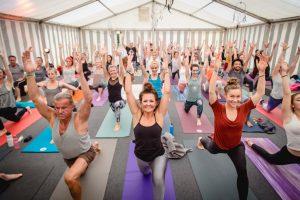 Sabine auf dem Yoga Summit in Innsbruck